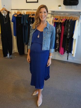 Blue Dress And Jean Jacket Favorite